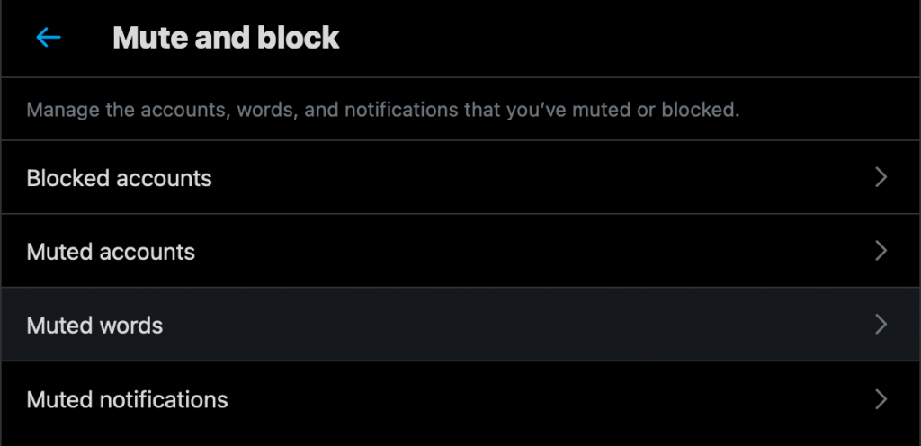 how to block porn on Twitter