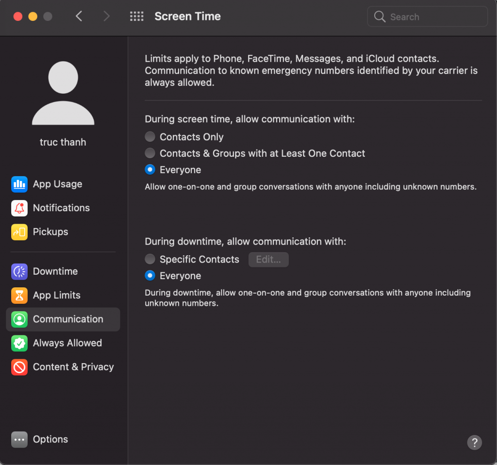 screentime macOS